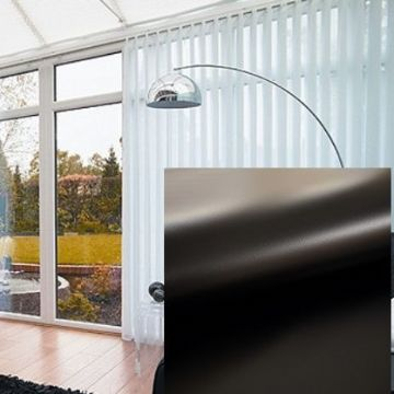 Made to Measure PVC Blackout Vertical Blinds in Black With Heat Reflective Coating